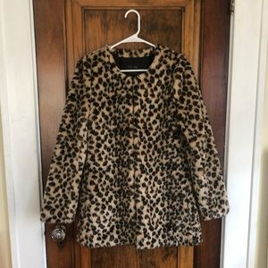 Leopard Print Fur Coat